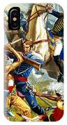 Native American Indians Vs American Soldiers IPhone Case