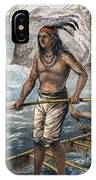 Native Americans/fishing IPhone Case