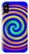 Neon Spiral Blue IPhone Case