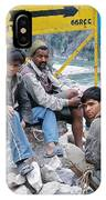 Nepali Labourers At Devraprayag IPhone Case