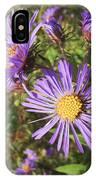 New England Aster Wildflower - Purple IPhone Case