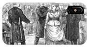 New York Police Raid, 1875 IPhone X Case