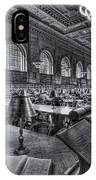 New York Public Library Main Reading Room Vi IPhone Case