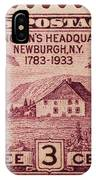 Newburgh Ny Postage Stamp IPhone Case