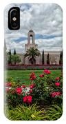 Newport Beach Temple Roses IPhone Case