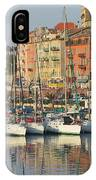 Nice Harbor Red Boat IPhone Case