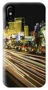 Night Exposure Of The Strip On Las IPhone Case