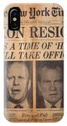 Nixon Resigns: Newspaper IPhone Case