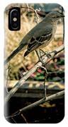 Northern Mockingbird On The Highline IPhone Case