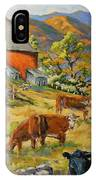 Nostalgia Cows Painting By Prankearts IPhone Case