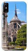 Notre Dame Cathedral Backside IPhone Case