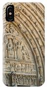 Notre Dame Cathedral Right Entry Door IPhone Case