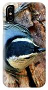Nuthatch Heading Down IPhone Case