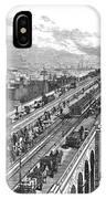 Ny: Brooklyn Bridge, 1883 IPhone Case