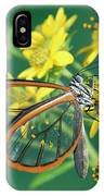 Nymphalid Butterfly Pteronymia Sp IPhone Case