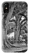 Oak Alley Backyard Monochrome IPhone Case