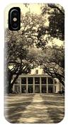 Oak Alley In Black And White IPhone Case