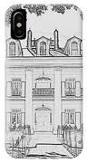 Oak Alley Sketch IPhone Case