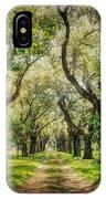 Oak Tree Lined Drive IPhone Case