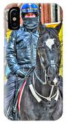 Officer And Black Horse IPhone Case