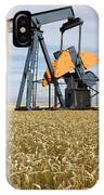 Oil Pump In A Wheat Field IPhone Case