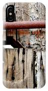 Old Barn Door Detail IPhone Case