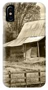 Old Barn Sepia Tint IPhone Case