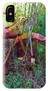 Old Bike And Weeds IPhone Case