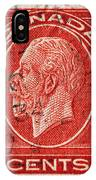 old Canadian postage stamp IPhone Case