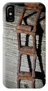 Old Chain And Barn Wood IPhone Case