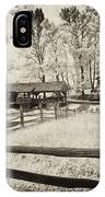 Old Country Saw-mill - Toned IPhone Case