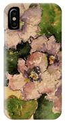 Old-fashioned African Violets IPhone Case