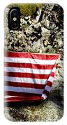 Old Glory On A Rock IPhone Case