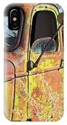Old Green Truck Door IPhone Case