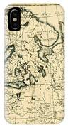 Old Map Of Northern Europe IPhone Case
