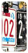 Old Nebraska Plates IPhone Case