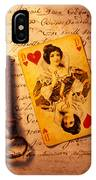 Old Playing Card And Key IPhone Case
