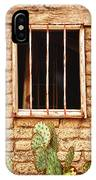 Old Western Jailhouse Window IPhone Case