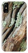 Old Wood And Lichen IPhone Case