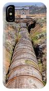Old Wooden Water Pipeline - Rural Idaho IPhone Case