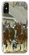 Olde Tyme Travel Clydesdales IPhone Case