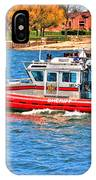 On Patrol At The Erie Basin Marina  IPhone Case