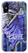 On Wings Of Love Angels Sing IPhone Case