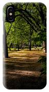 One Day In The City Park IPhone Case