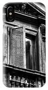 Open Shutter In Rome IPhone Case