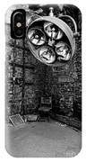 Operating Room - Eastern State Penitentiary - Black And White IPhone Case