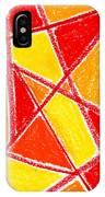 Orange Abstract IPhone Case