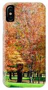 Orange Colored Trees IPhone Case