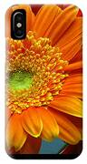 Orange Floral IPhone Case
