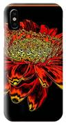 Orange Gerbera Daisy With Chrome Effect IPhone Case